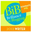 BritMums' Brilliance in Blogging Awards2013